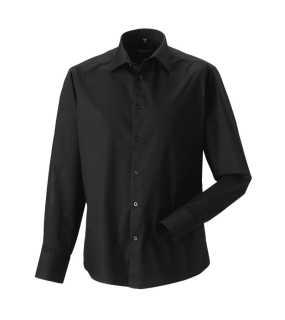 ba590ea7cff3 Pánska košeľa(Long Sleeve Easy Care Fitted RUSSELL) čierna XL