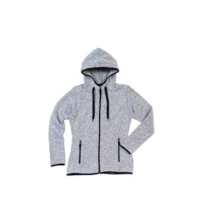 Dámska mikina (STEDMAN Active Knit Fleece Jacket)>šedá (lightmelange)>S