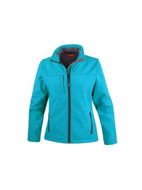 Dámska bunda (RESULT LADIES CLASSIC SOFT SHELL JACKET)>modrá (azure)>XL