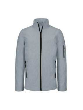 Pánska softshell bunda (KARIBAN MENS SOFTSHELL JACKET) > šedá (marl) > M