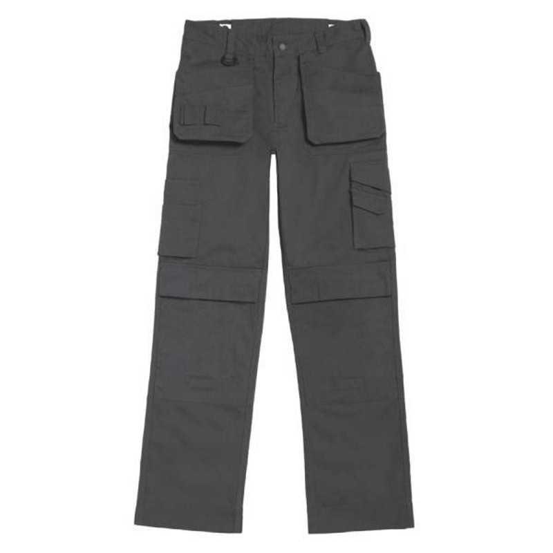 18759fc55 Pracovné nohavice (B&C PERFORMANCE PRO)>šedá (steel) / čierna>40 ...