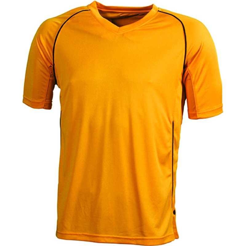 835177e4233c Detské športové tričko (JN Team Shirt Junior) oranžová   čierna XL ...
