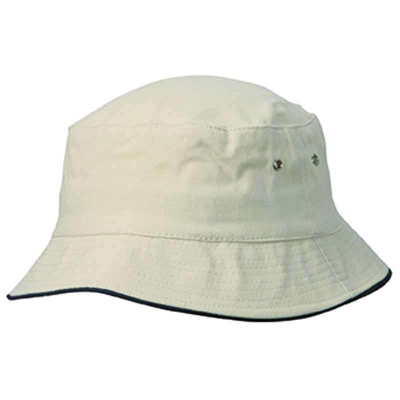 86ba03d02 Klobúk (MB Fisherman Piping Hat for Kids)>prírodná / modrá (navy ...