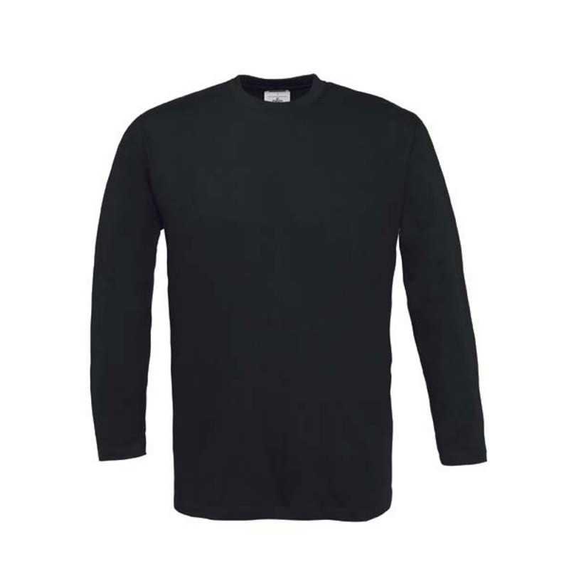 2f296ceb65b1 Unisex tričko (B C EXACT 190 LSL) čierna L - REPRE - reklamné predmety