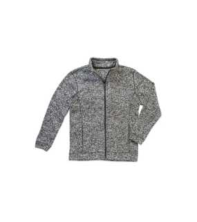 Pánska mikina (STEDMAN Active Knit Fleece Jacket)>šedá (darkmelange)>M