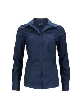 Dámska košeľa (JN Ladies Business Shirt Longsleeve) > modrá (navy) > L