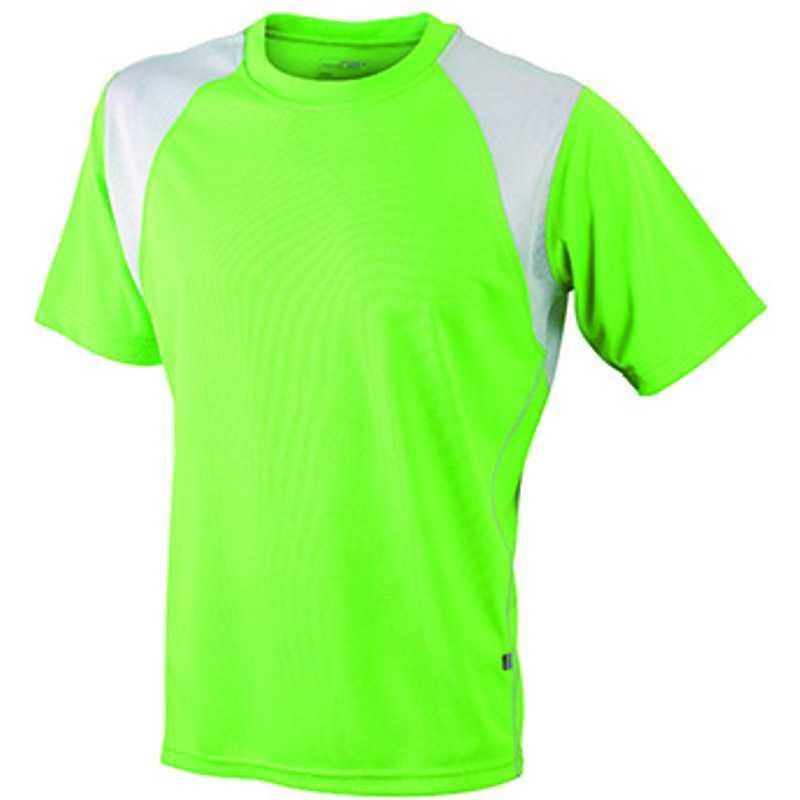 01dbf5c2d4ab Pánske tričko (JN Men s Running-T) zelená (lime)   biela M - REPRE ...