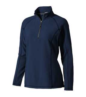 Dámska mikina (ELEVATE Polyfleece Quarter Zip Ladies) > modrá (navy) > M