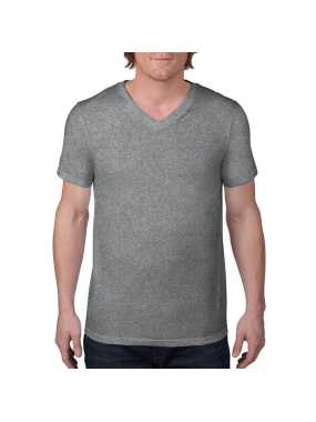 Pánske tričko (ANVIL ADULT FASHION BASIC V-NECK TEE) > šedá (heather graphite) > S