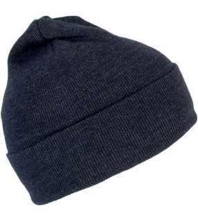 "Čiapka (K-UP""SILK BEANIE WITH TURN-UP"") > modrá (off navy)"