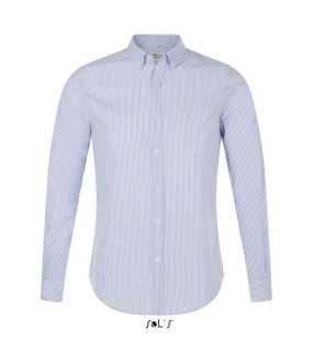 Pánska košeľa(SOL'S BEVERLY MEN STRIPED SHIRT)>biela (stripped blue)>XL