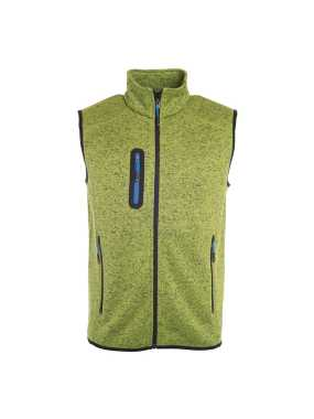 Pánska vesta(JN Mens Knitted Fleece Vest)>zelená (kiwi melange) / modrá (royal)>XL