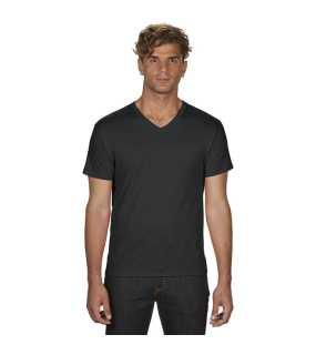 Pánske tričko (ANVIL ADULT FEATHERWEIGHT V-NECK TEE)   čierna   M dc33e65cab4