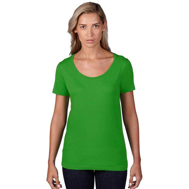 20b712d7845c6 Dámske tričko (ANVIL WOMENS SHEER SCOOP TEE) > zelená (apple) > 2XL ...