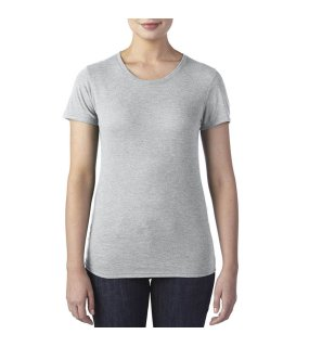 Dámske tričko(ANVIL WOMEN S TRI-BLEND TEE) šedá (heather)  80f67f5a39d
