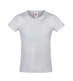 Detské tričko (FRUIT OF THE LOOM Girls Sofspun Tee)>šedá(heather grey)>3/4