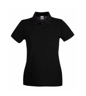 Dámska polokošeľa (FRUIT OF THE LOOM New Lady-Fit Premium Polo )>čierna>2XL