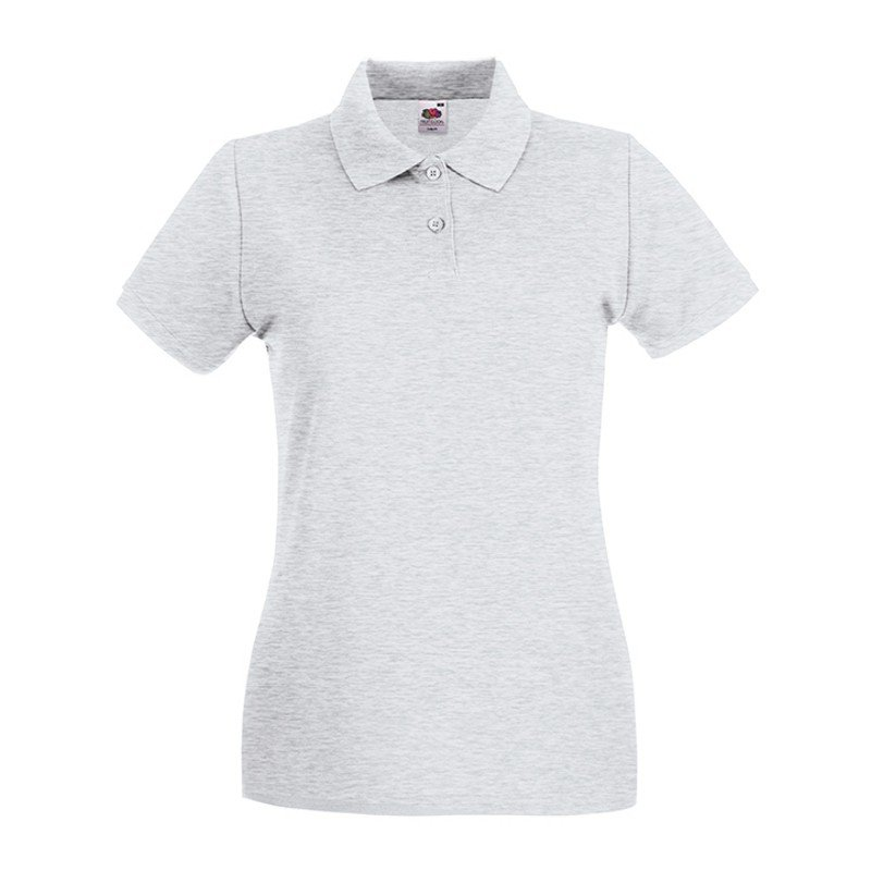 Dámska polokošeľa (FRUIT OF THE LOOM New Lady-Fit Premium Polo )>šedá (ash)>S