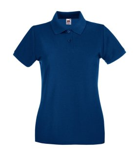 Dámska polokošeľa (FRUIT OF THE LOOM New Lady-Fit Premium Polo )>modrá (navy)>M
