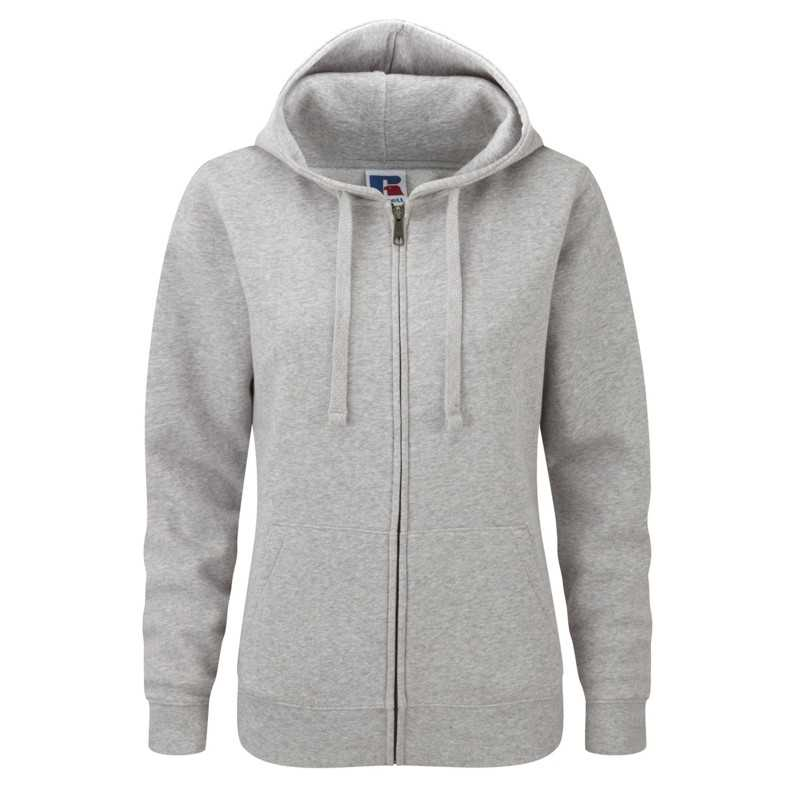 Dámska mikina (RUSSELL AUTHENTIC ZIP HOOD/W)>šedá (lightoxford)>S