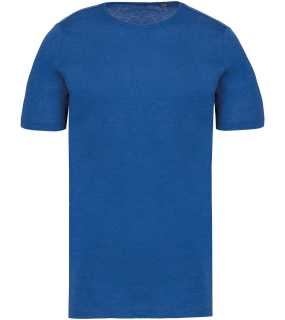 Pánske tričko(Kariban MEN'S SHORT-SLEEVED ORGANIC T-SHIRT WITH RAW EDGE NECKLINE) > modrá(