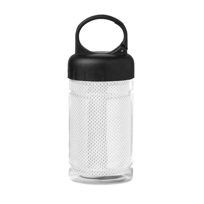 Fľaša s uterákom   biela - REPRE - reklamné predmety 2807a0c7b84