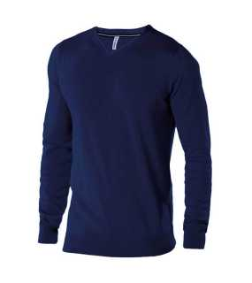 Pánsky sveter (KARIBAN MENS V-NECK JUMPER)>modrá (light navy)>L