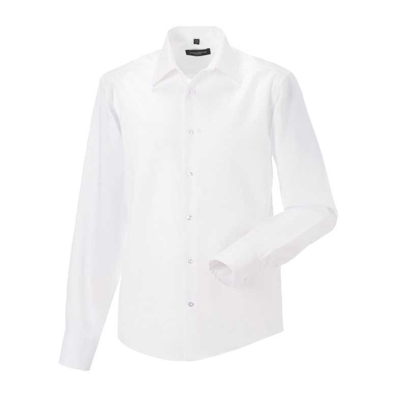 ec680b028 Pánska košeľa(Long Sleeve Tailored Ultimate Non-Iron RUSSELL)>biela ...