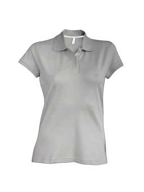 Dámska polokošeľa ( Kariban Ladies SS Pique Polo Shirt )>šedá (oxford)>M