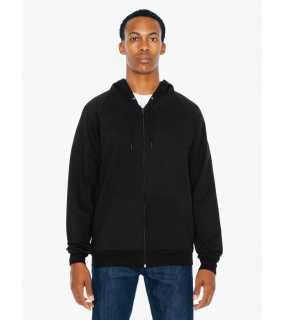 Pánska mikina (AMERICAN APPAREL UNISEX CALIFORNIA FLEECE ZIP HOODED SWEATSHIRT)>čierna>L