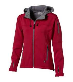 Dámska softshell bunda (SLAZENGER Match ladies softshell jacket)>červená/šedá (light)>XL