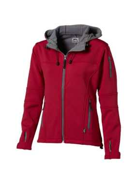 Dámska softshell bunda (SLAZENGER Match ladies softshell jacket)>červená / šedá (light)>S
