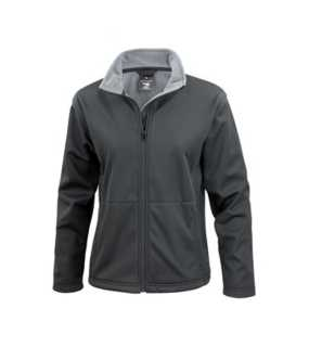 Dámska bunda (RESULT CORE LADIES SOFT SHELL JACKET)>čierna>M