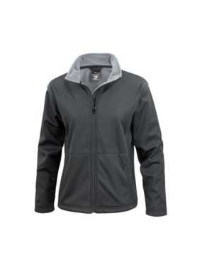 Dámska bunda (RESULT CORE LADIES SOFT SHELL JACKET)>čierna>S