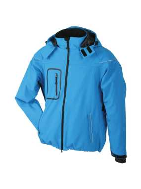 Pánska softshell bunda (JN Men s Winter Softshell Jacket) > modrá (aqua) > L