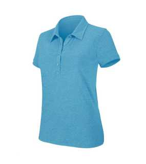 "Dámska polokošeľa (KARIBAN LADIES' SS ""BLEND"" POLO SHIRT)>modrá (tropical heather)>S"