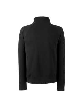 Pánska mikina (FRUIT OF THE LOOM Zip-Neck Sweat )>čierna>L