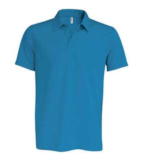 Pánska polokošeľa (KARIBAN PERFORMANCE SHORT SLEEVE POLO SHIRT) > modrá (aqua) > L