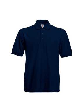 Pánska polokošeľa (FRUIT OF THE LOOM Heavy 65/35 Polo )>modrá (deep navy)>M
