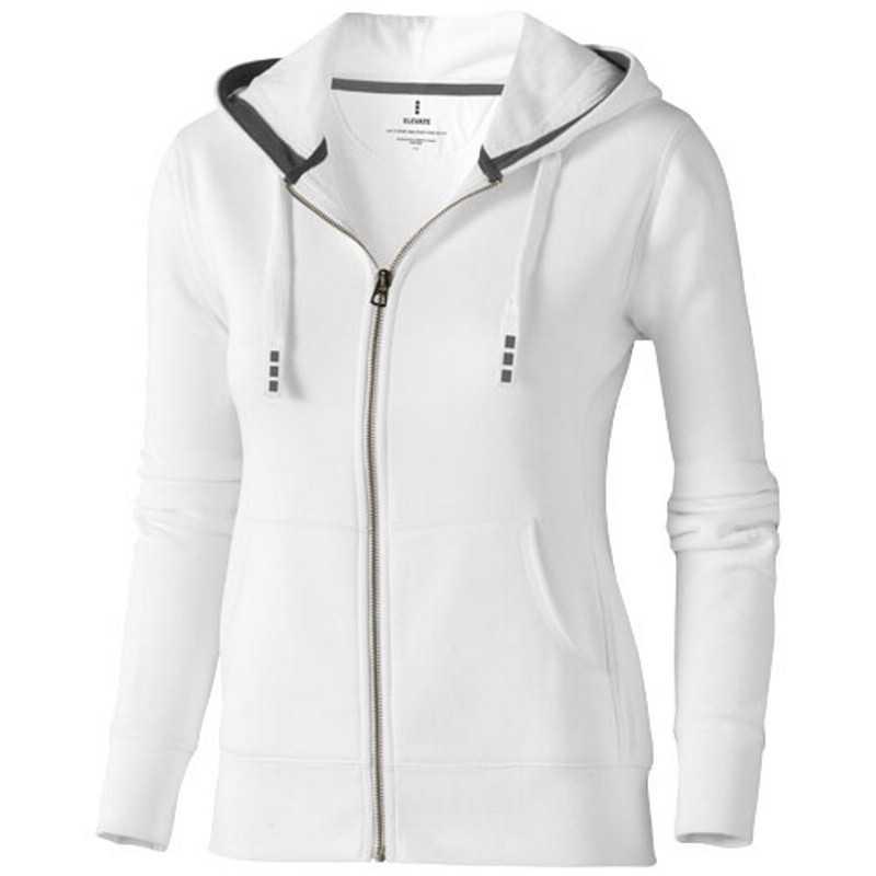 c9a0bd47e Dámska mikina so zipsom (Arora hooded full zip ladies sweater Elevate) >  biela > M