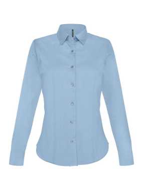Dámska košeľa (KARIBAN LADIES LONG SLEEVE SHIRT) > modrá (light) > XS