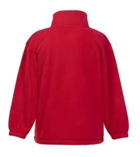 Detská fleece bunda (FRUIT OF THE LOOM Kids Outdoor Fleece )>červená>9/11