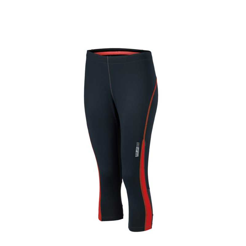 d5c44ca5e14f Dámske 3 4 nohavice (JN Ladies  Running Tights 3 4) čierna   červená  (tomato) XS