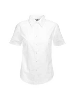 Dámska košeľa (FRUIT OF THE LOOM Lady-Fit Short Sleeve Oxford Shirt ) > biela > S