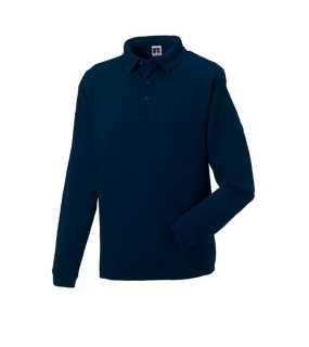 6dd9cc252df7 Pánska rugby polokošeľa(Heavy Duty Collar RUSSELL) modrá (frenchnavy) S