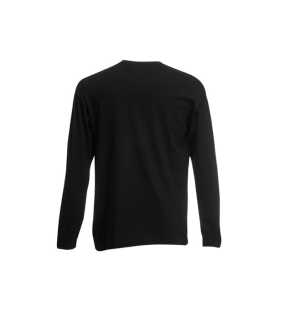 Pánske tričko (FRUIT OF THE LOOM Valueweight Long Sleeve T)>čierna>L