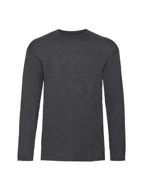 Pánske tričko (FRUIT OF THE LOOM Valueweight Long Sleeve T)>šedá(dark heather)>3XL