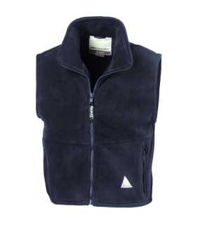 Detská vesta (RESULT JUNIOR ACTIVE FLEECE BODYWARMER)>modrá (navy)>M