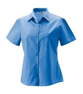 Dámska košeľa(Short Sleeve PolyCotton Easy Care Poplin RUSSELL)>modrá (corporate)>XL