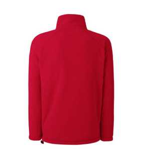 Pánska flecee bunda (FRUIT OF THE LOOM Full Zip Fleece )>červená>L